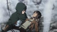 Mikasa retrieves Eren