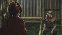Саша и её отец в аниме
