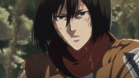 Mikasa stellt sich gegen Levi