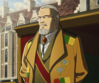 Generalissimo Zackly kommt am Gericht an