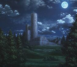 Utgard Castle in the anime