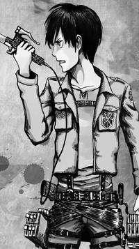 Eren's design in the manga