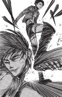 Levi picchia Eren