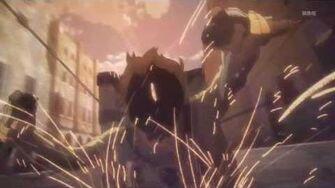 Shingeki no Kyojin Episode 11 Awesome Maneuver Gear Scene