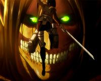 Mikasa tries to talk to Eren