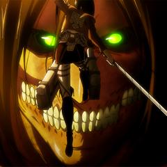Mikasa intenta razonar con Eren.