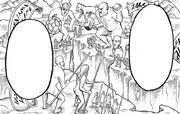 Die neun Titanen kämpfen