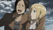 Shingeki no kyojin-06-ymir-christa-laughing-comedy-friendship-scouting team-lesbian lovers