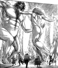 Grisha kämpft gegen den Urtitan