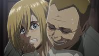 Armin wird von einem seiner Entführer belästigt