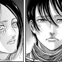 Mikasa cuestiona a Eren por sus acciones.