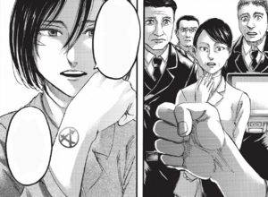 Mikasa reveals her mark of the Asian clan