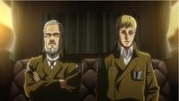 Erwin i Zackly dyskutują w powozie