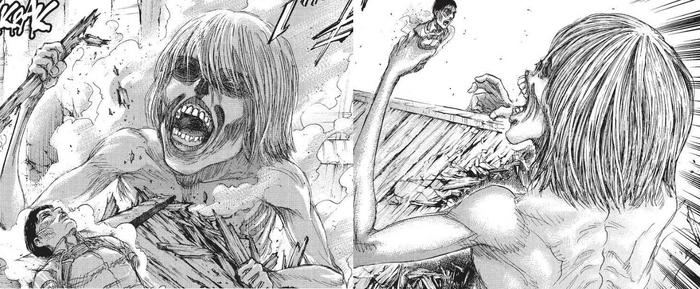 Armin's mindless Titan