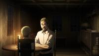 Erwins Vater erzählt seinem Sohn von seiner Theorie