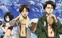 Mikasa, Eren and Levi