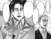 Levi droht Erwins Beine zu brechen