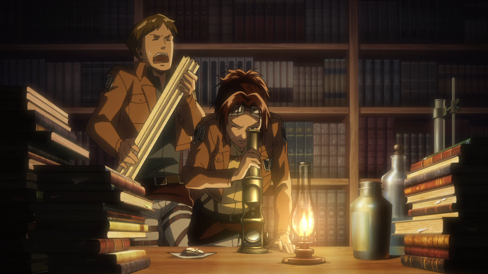 Image - Moblit harangues Hange.png   Attack on Titan Wiki   FANDOM powered by Wikia