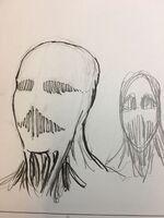 Isayama's sketch of the War Hammer Titan