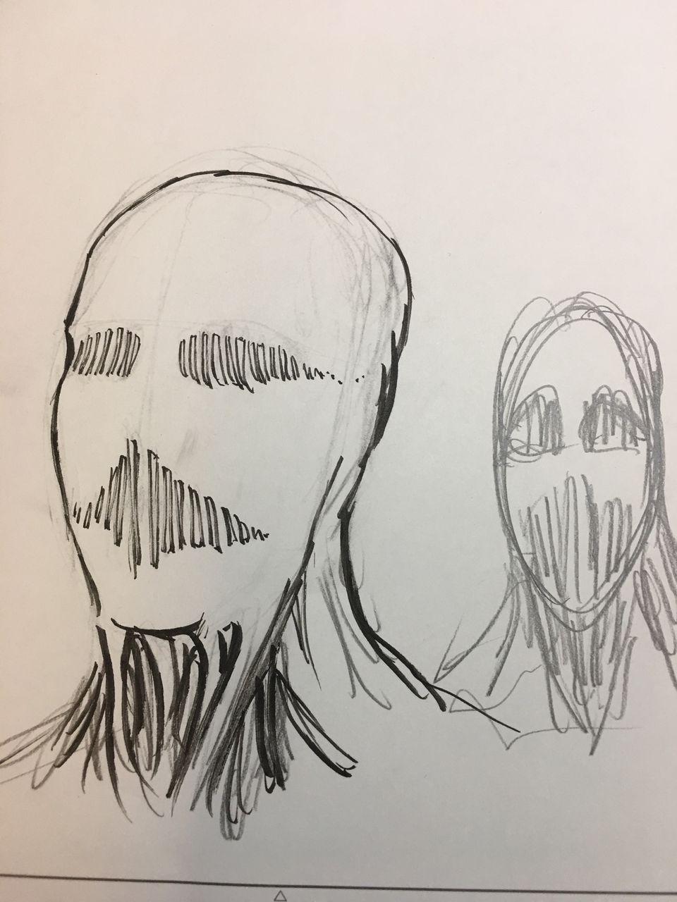 Isayama's sketch of the War Hammer Titan.jpg