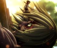 Mikasa intercepts Annie