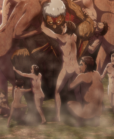 File:Armored Titan surrounded by Titans.png