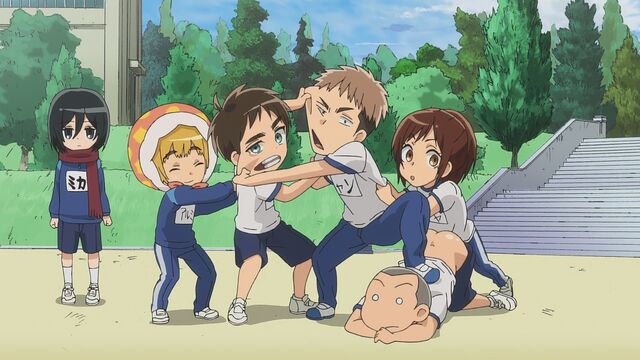 File:Sasha tries to stop a fighting Jean and Eren.jpg