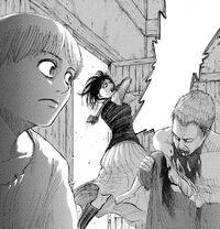 Sasha tries to kill the Titan