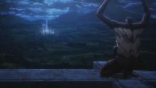 Le Titan Singe regarde l'affrontement