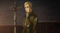 Erwin names Hange the next commander