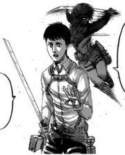 Mikasa greift Bertholdt an Manga