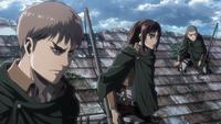 Jean, Sasha und Connie zögern Reiner zu töten