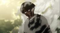 Levi nach dem Töten der Titanen