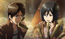 Eren and Mikasa
