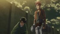 Floch asks Levi why Armin was chosen