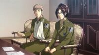 Hange discusses Ymir's letter with Historia