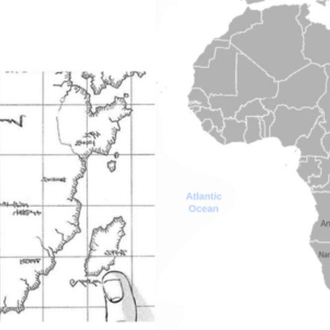 Марлия и Прадис по сравнению с Африкой и Мадагаскаром