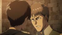 Jean und Eren kämpfen gegeneinander