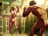 Titan Assaillant vs Titan Féminin (combat 2)