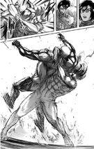 Eren fights against Reiner