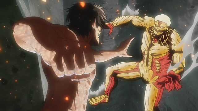 File:Eren transforms to fight the Armored Titan.jpg