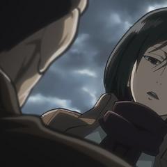 Mikasa confronta a Dimo Reeves.