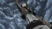 Mikasa apprend la mort d'eren