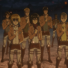 Mikasa se une al Cuerpo de Exploración.