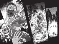 Eren transforms and eats Grisha