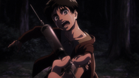 Grisha prepares to inject Eren