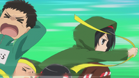 Mikasa takes an opponent's bandana