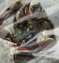 Armored Titan grabs Eren
