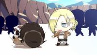 Eren trains with Annie