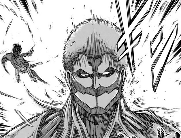 File:Mikasa attacks Armored Titan.png
